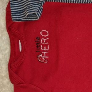 Carter's One Pieces - Set of 4 New Born Baby Onesies, Firefighter baby
